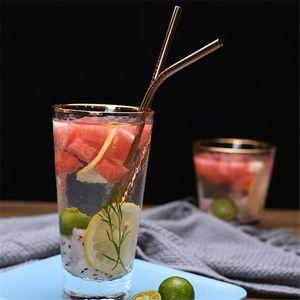 Brillo metálico doble paja paja vaso 20 oz Alimentación acero inoxidable del grado 304 de bebida al por mayor de la paja