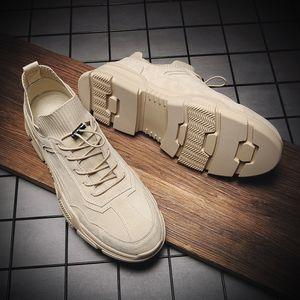 Nouveau Pigskin Tissu Sock bouche Chaussures Casual respirante Oxfords Casual Man Flats Designer Chaussures de sport pour les chaussures en cuir pour homme%