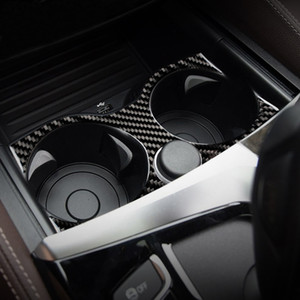 Для BMW 5 Series 6GT G30 G32 G38 Аксессуары Carbon Fiber автомобилей Внутренний контроль переключения передач Панель воды Кубок держатель крышки Обрезка наклейки