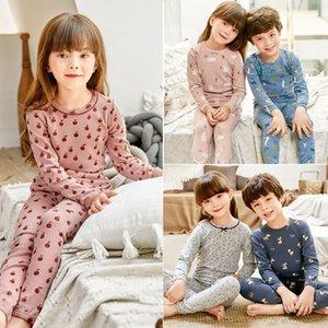 e6Lqx pants girls children women cotton sweater boys pajamas underwear children Warm Suit autumn clothes Warm autumn clothes suit pure cott