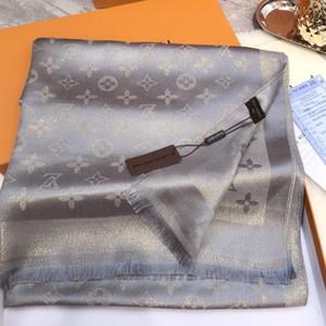 New Fashion Designer Lenço de seda venda quente das mulheres de Luxo Tamanho Primavera xaile lenço do inverno Marca Lenços sobre 180x70cm 6 cores com caixa Opção