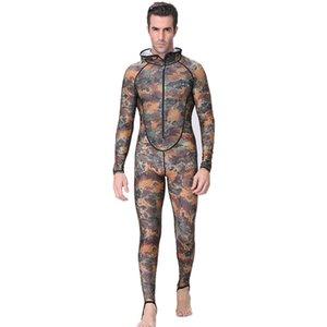 DiveSail Spearfishing Пары костюм Камо кожа Погружение Wetsuit One Piece с капюшоном Перейти Увы Защиты мужчины гидрокостюме