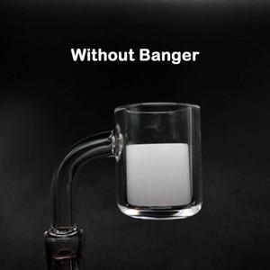 New 18mm 20mm Full Opaque Bucket Gavel Quartz Insert Bowl For 10mm 14mm 18mm Beveled Edge Quartz Banger Glass Water Bongs Dab Rigs