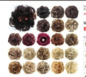 Synthetic Flexible Hair Buns Curly Scrunchy Chignon Elastic Messy Wavy Scrunchies Wrap For Ponytail Extensions For Women