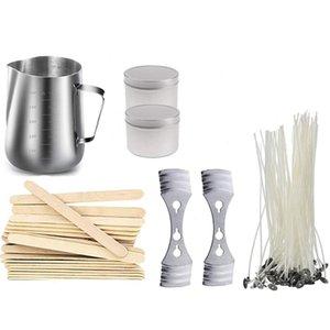 Bougie Kit Making Comprend 550 ml en acier inoxydable Melting Pot, Wick Bougie pré-cire, Équipement Wick Centre, Bougie de pot et remuez S Bougies