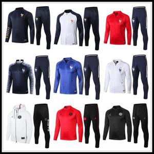 2019 2020 France veste survetement costume entraînement de football Jersey 19 20 Survêtement survêtement PSG Paris Survêtement Veste de football MBAPPE ensemble