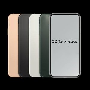 Andriod Phone 2020 12 Pro Max 6.7inch 16GB ROM FaceID 3G WCDMA QuadCore 13MP Camera Show Fake 5G phone Sealed Box DHL