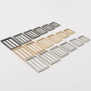 25-50mm Metal Adjust Buckles Bags Webbing Strap Rings Tri-glide Slider DIY Luggage Coat Sewing Hardware Accessories