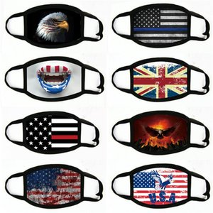 Ready To Ship!Durable Cotton Cloth Carbon Dust Mask Designer Printed Face Masks Anti Dust Free Shipping By Ups #778