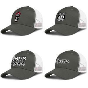 MISFITS LOGO SMALTO PIN mens verde militare e donne camionista berretto da baseball di modo design personalizzato maglia cappelli Misfits logo oltre 4 teschi io siamo