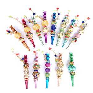 Porte Blunt coloré avec strass bijoux pointes bouche narguilé gros narguilé Conseils narguilé métal bijoux