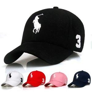 El más reciente Visera curvada Gorra de béisbol Caps las mujeres sombrero sombreros Gorras papá oso de polo para los hombres Snapback hip hop