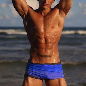 Мужчины Sexy Boxer Градиент плавок 2020 Мода Sexy плавок шорты Купальники Купальники бассейн Ropa Hombre