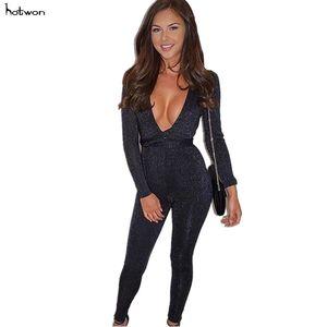 2018 donne sexy Fuori spalla a manica lunga Salopette corte Ripped signore casuali della cinghia della tuta della tuta lunga