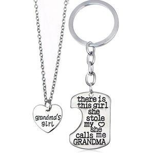 ePacket dhl Kız Kalp anne baba Serisi kolye DAN17 karıştırmak amacıyla kolye Salkım 1set = 2 adet Stole