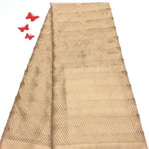 Madison Gold de calidad superior bordado nigeriano boda tela africana del cordón cordón africano de alta calidad tela de encaje guipur para hombres
