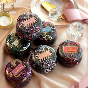 Çiçek Çay Vaka Kutular Mumluk Tezhip Özgünlük Teneke Çok renkli Şeker Kutusu Noel Düğün Hediyeleri Saklama Kutuları LJJA3290 Favor