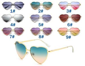 mujer de verano amoroso corazón gafas de sol conduciendo gafas de sol señoras marca moda deportes ojo uso oculos nuevos marca gafas de sol 9color gratis