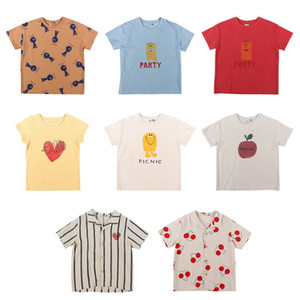 IN STOCK 2020ss Spring and Summer Models Jelly Same Kids Short-sleeved T-shirt Girls Tops Y200704