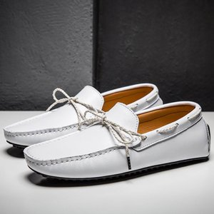 New Fashion Men's White Casual Loafer Shoes Round Toe Simple Desiger Platform Man Boat Shoes For Driver Plus Size 47 48 49