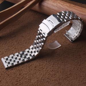 Matte Stainless steel metal watchbands straps bracelet 18mm 20mm 22mm 24mm 26mm for mens quartz wristwatches mechanical watches