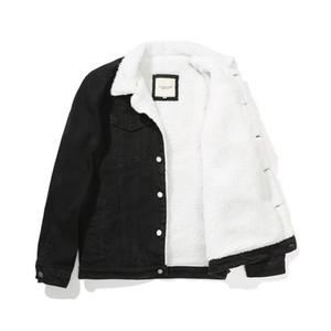 6XL vaqueiro Inverno Jean casacos quentes Denim Casacos Casacos Men Tamanho Grande Wool Liner Thicken Sherpa Denim Jackets Vestuário, GCM004 T200111