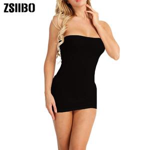 ZSIIBO с плеча Backless платье партии женщин сексуальное платье Черное платья без бретелек Длинные верхней части пробки Vestidos Женщин