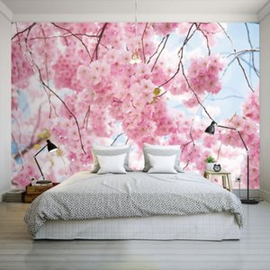 Drop Shipping Bilder Tapeten Moderne Kirsche Rosa Farbe Tapete Büro Blumengeschäft Badezimmer Schlafzimmer Guest House Individuelle