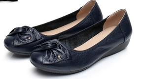Envío gratis 2018 Primavera Otoño nuevo estilo Zapatos antideslizantes para la madre Pendiente talón Zapatos para mujer