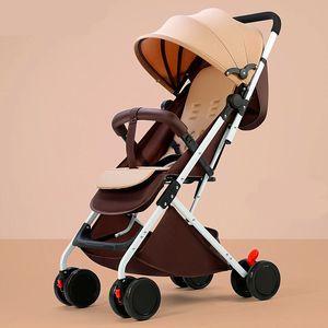 2020 Portable baby stroller can sit reclining baby child stroller ultra light umbrella cart folding simple stroller