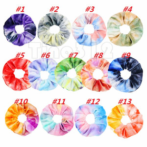 cielo stellato Donne Capelli Fasce elastiche del supporto del Ponytail del legame dei capelli Scrunchies Rubber Band for Girls fascia signora Hair Accessories F0057