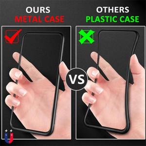 حالة الهاتف المغناطيسي آيفون XS ماكس XR 6/7/8 بالإضافة X الامتزاز الزجاج المقسى الغلاف لوحة الخلفي حالات الهاتف الخليوي DHL