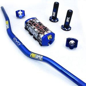 "Guiador de 28,5 mm com barbas de 1-1 / 8"" pegas pegas Pit Pro Racing Dirt Pit Bike Motocross CNC Adaptador de 28,5 mm"