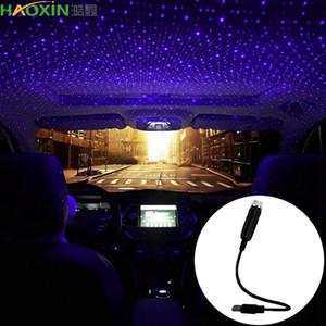 Haoxin LED voiture toit Star Night projecteur de lumière Atmosphere Galaxy Lampe USB Lampe décorative Effets ajustables d'éclairage multiples