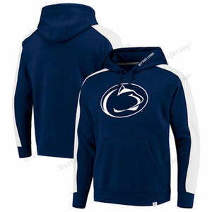 Penn State Nittany Lions Sudaderas Hombre Iconic Colorblocked Fleece NCAA Football Sports Impreso Crimson Pullover Hoodies Tamaño S-4XL