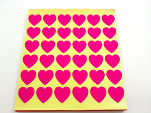 19x19mm beautiful heart shape stickers, red baby pink flour pink light pink white blue light blue, Item No. OF06