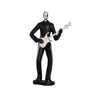 현대 수 지 예술 추상 뮤지션 입상 악기 동상 전기 기타 플레이어 입상 - 블랙 컬러