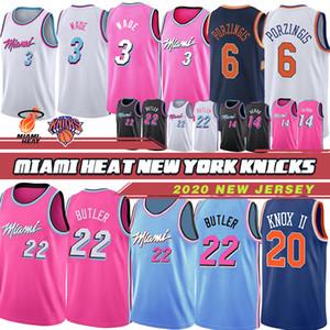 NCAA Miami Heat 3 Dwyane Wade Chandails de basket-ball universitaires pour hommes 22 Dragic Jimmy 7 Goran Dragic 21 Hassan Whiteside 14 Tyler Herro 2019 Nouveau Basket-ball Nouveau