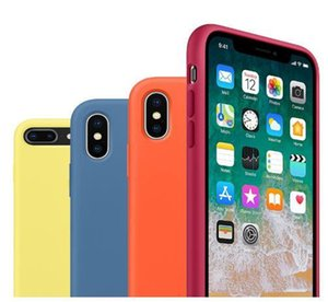 Original Official Liquid Solid Silicone Gel Rubber Shockproof Phone Case Cover For iPhone 11 XS Max XR X 8 Plus 7 6 6S caseWith Retail Box
