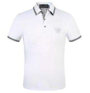 Mens Designers camisas pólo Louis Vuitton Verão Turn Down Collar manga curta Cotton Poloshirts Homens polos Casual Tops