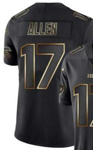 2020 Мужская футболка Buffalo 17, майка Man Vapor Limited, черный золотой трикотаж, майки американского футбола