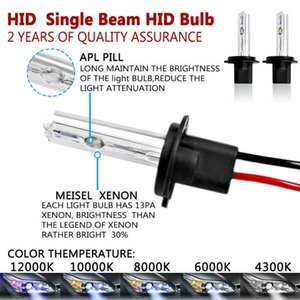 CAR 2PCS 55W HID Xenon Conversion Kit With Slim Ballast - H7-6000K - 2 Bulbs & 2 Ballasts