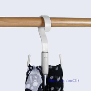 Support de rangement ceinture nouée Organizer 360 degrés de rotation Hanger Crochet Armoire Closet Espace économie Scarfs Bra Holder Accueil Fournitures