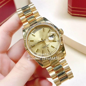 Relógios de pulso Classic Series 41 milímetros 36mm 118238 228238 mostrador amarelo moldura Ásia ETA 2813 Luxo Movimento automático Mens Relógios