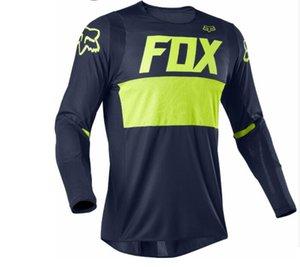2020 nouvelle combinaison de course de VTT T-shirt chemise hommes manches longues marque de marée vente chaude équitation costume descente extérieur FOX produits sur mesure