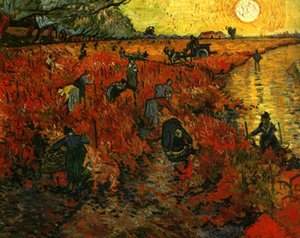 Oturma Odası için Tuval Wall Art Büyük Pictures On Vincent Van Gogh Kırmızı Üzüm Yağlıboya