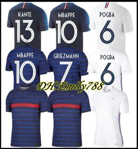 2018 Mbappé Pogba 2stars FRANÇA Soccer Jersey 2020 GRIEZMANN Varane HERNANDEZ Football Shirt Thauvin Matuidi PAVARD 20 21 pé maillot de