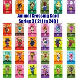 Serie 3 (211 bis 240) Amiibo Animal Crossing-Karte Arbeit für NS Spiele Amibo Schalter Rosie Willkommen Aufkleber New Horizons NFC