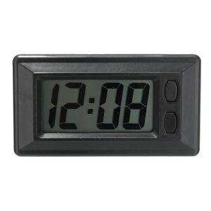 Schermo a cristalli liquidi Digital tabella auto Accessori per auto orologio sul cruscotto Desk Data Ora calendario piccolo orologio autoadesivo Staffa