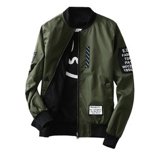 Luxury classic The best quality leisure The designer fashion luxuWind Breaker Men Jacket With Patches Both Side Wear Thin Bomber Jacket Coat